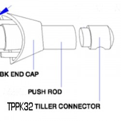 Simrad Tiller Pilot Push Rod End Cap - TPPK32