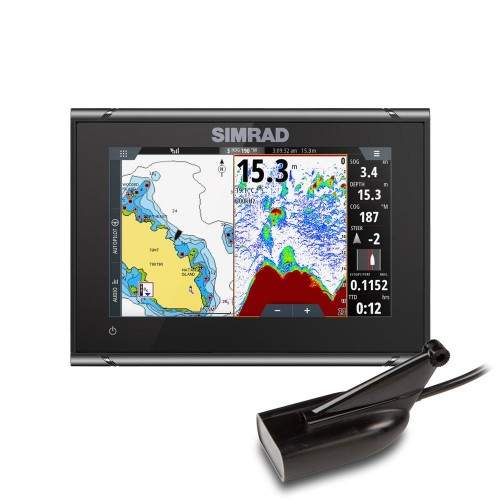 """Simrad GO7 XSR 7"""" Multifunction Display with HDI Transducer  - 000-14446-001"""