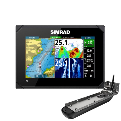 "Simrad GO7 XSR 7"" Multifunction Display with Active Imaging 3 in 1 Transducer  - 000-14839-001"