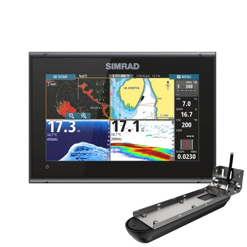 """Simrad GO9 XSE 9"""" Multifunction Display with Active Imaging 3-in-1 Transducer  - 000-14841-001"""