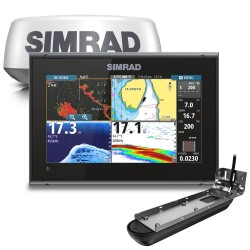 "Simrad GO9 XSE 9"" Multifunction Display with Active Imaging 3-in-1 Transducer and Halo20+ Radome - 000-15618-001"