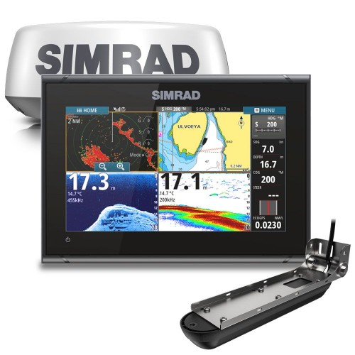 """Simrad GO9 XSE 9"""" Multifunction Display with Active Imaging 3-in-1 Transducer and Halo20+ Radome - 000-15618-001"""