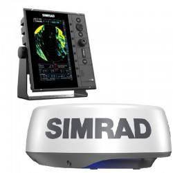 """Simrad R2009 9"""" Radar Control Unit with HALO20+ Radar - 000-15717-001"""