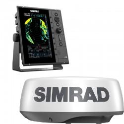 """Simrad R2009 9"""" Radar Control Unit with HALO20 Radar - 000-15716-001"""
