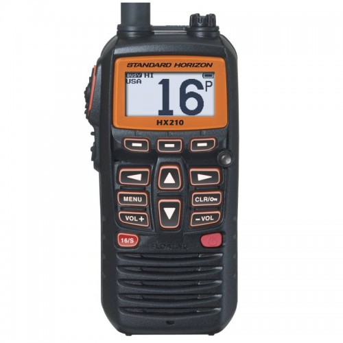 Standard Horizon HX210E Compact Floating Handheld VHF with FM Radio