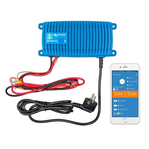 Victron Energy Blue Power Waterproof  Smart Charger - IP67 - 12v 13A - 1 Output - EU Plug only - BPC121313006