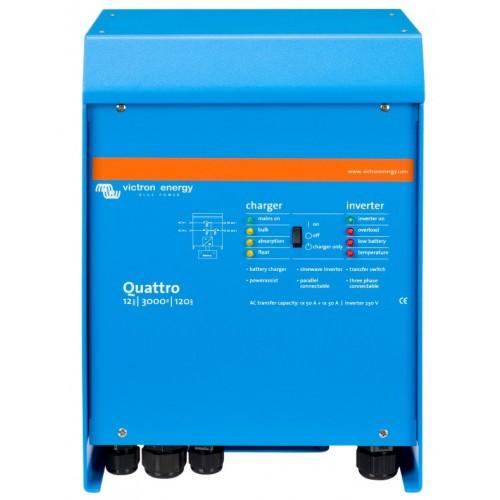 Victron Energy Quattro Sinewave Multiplus 12v 3000w/120-50/50 - QUA123020010