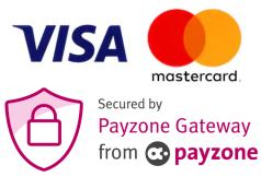 mastercard and visa accepted via Payzone